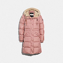 COACH LONG PUFFER - ROSE - F34128