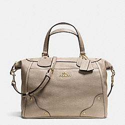 COACH MICKIE SATCHEL IN CAVIAR GRAIN LEATHER - LIGHT GOLD/GOLD - F34143