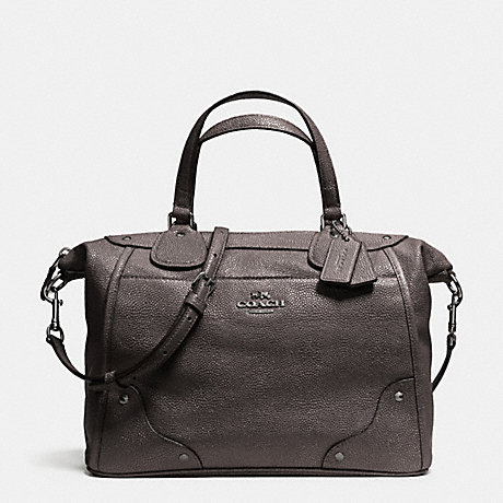 COACH f34143 MICKIE SATCHEL IN CAVIAR GRAIN LEATHER ANTIQUE NICKEL/GUNMETAL
