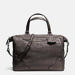 COACH MICKIE SATCHEL IN CAVIAR GRAIN LEATHER - ANTIQUE NICKEL/GUNMETAL - F34143