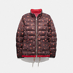 REVERSIBLE QUILTED JACKET - CLASSIC RED/MULTI - COACH F34158