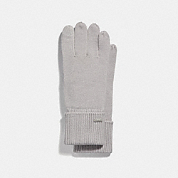 EMBOSSED SIGNATURE KNIT TOUCH GLOVES - ICE - COACH F34259