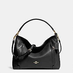 SCOUT HOBO IN POLISHED PEBBLE LEATHER - LIGHT GOLD/BLACK - COACH F34312