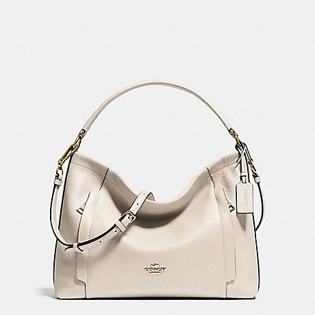COACH SCOUT HOBO IN POLISHED PEBBLE LEATHER - LIGHT GOLD/CHALK - f34312
