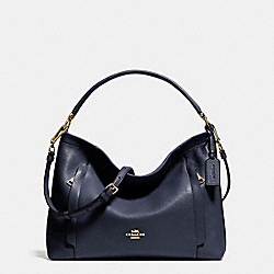 SCOUT HOBO IN PEBBLE LEATHER - LIGHT GOLD/NAVY - COACH F34312