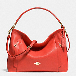 COACH SCOUT HOBO IN PEBBLE LEATHER - LIGHT GOLD/WATERMELON - F34312