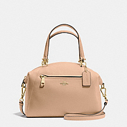 PRAIRIE SATCHEL IN PEBBLE LEATHER - f34340 - LIGHT GOLD/BEECHWOOD
