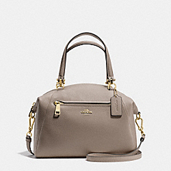 PRAIRIE SATCHEL IN PEBBLE LEATHER - f34340 - LIGHT GOLD/FOG