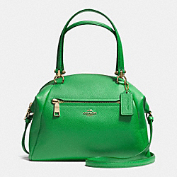 COACH PRAIRIE SATCHEL IN PEBBLE LEATHER - LIGRN - F34340
