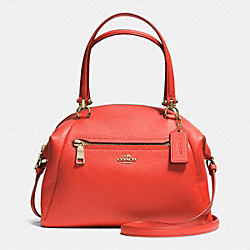 COACH PRAIRIE SATCHEL IN PEBBLE LEATHER - LIWM3 - F34340