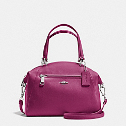 COACH PRAIRIE SATCHEL IN PEBBLE LEATHER - LIGHT GOLD/MOSS - F34340