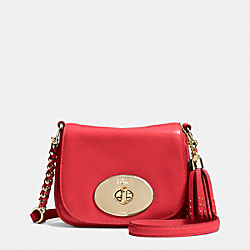 COACH LIV CROSSBODY IN CALF LEATHER - LIGHT GOLD/RED - F34361