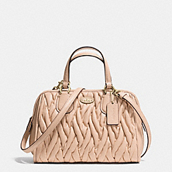 COACH MINI NOLITA SATCHEL IN GATHERED LEATHER - LIAPR - F34370