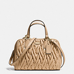 COACH MINI NOLITA SATCHEL IN GATHERED LEATHER - LINUD - F34370