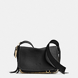 COACH DAKOTAH FRINGE CROSSBODY IN WHIPLASH LEATHER - LIGHT GOLD/BLACK - F34396