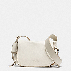 COACH DAKOTAH MINI FLAP CROSSBODY 21 IN WHIPLASH LEATHER - LIGHT GOLD/CHALK - F34397