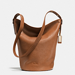 COACH DUFFLE SHOULDER BAG IN PEBBLE LEATHER - LIGHT GOLD/SADDLE - F34474