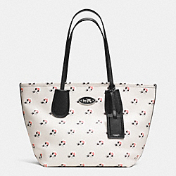 COACH COACH TAXI ZIP TOP TOTE IN PRINTED CROSSGRAIN LEATHER - SVDRL - F34481