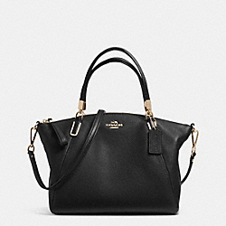 PEBBLE LEATHER SMALL KELSEY SATCHEL - f34493 - LIGHT GOLD/BLACK