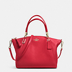 COACH SMALL KELSEY SATCHEL IN PEBBLE LEATHER - IME8B - F34493