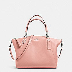 COACH SMALL KELSEY SATCHEL IN PEBBLE LEATHER - SILVER/BLUSH - F34493