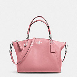 COACH PEBBLE LEATHER SMALL KELSEY SATCHEL - SILVER/SHADOW ROSE - F34493