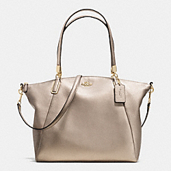 COACH KELSEY SATCHEL IN PEBBLE LEATHER - LIGHT GOLD/METALLIC - F34494