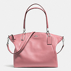 PEBBLE LEATHER KELSEY SATCHEL - f34494 - SILVER/SHADOW ROSE