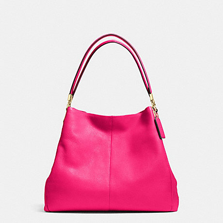 COACH PHOEBE SHOULDER BAG IN PEBBLE LEATHER - LIGHT GOLD/PINK RUBY - f34495