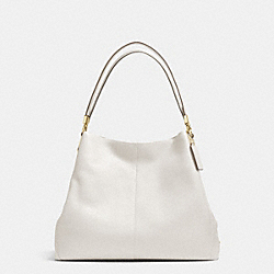 COACH MADISON LEATHER SMALL PHOEBE SHOULDER BAG - LIGHT GOLD/CHALK - F34495