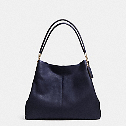 COACH MADISON LEATHER SMALL PHOEBE SHOULDER BAG - LIGHT GOLD/MIDNIGHT - F34495