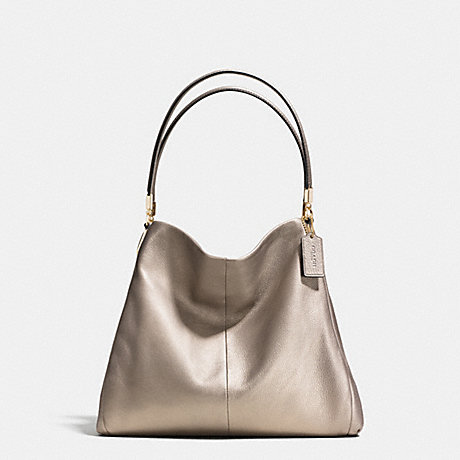 Coach Madison Phoebe Shoulder Bag In Metallic Leather 107
