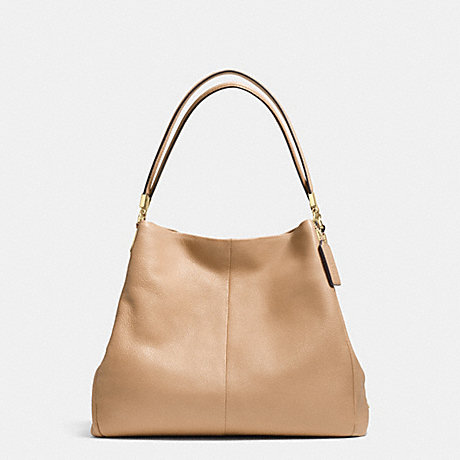 COACH PHOEBE SHOULDER BAG IN PEBBLE LEATHER - LIGHT GOLD/NUDE - f34495