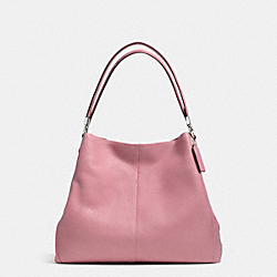 COACH MADISON LEATHER SMALL PHOEBE SHOULDER BAG - SILVER/SHADOW ROSE - F34495