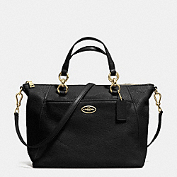 COACH COLETTE SATCHEL IN PEBBLE LEATHER - LIGHT GOLD/BLACK - F34508