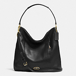 COACH SHOULDER BAG IN PEBBLE LEATHER - LIGHT GOLD/BLACK - F34511