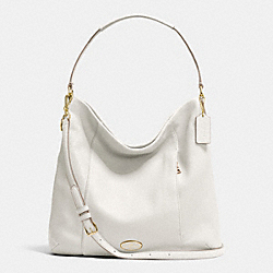COACH SHOULDER BAG IN PEBBLE LEATHER - LIGHT GOLD/CHALK - F34511