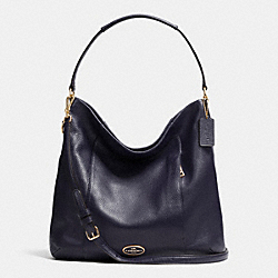 COACH SHOULDER BAG IN PEBBLE LEATHER - LIGHT GOLD/MIDNIGHT - F34511