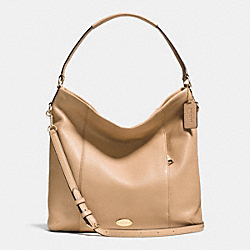 COACH SHOULDER BAG IN PEBBLE LEATHER - LIGHT GOLD/NUDE - F34511