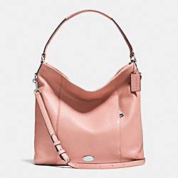 COACH SHOULDER BAG IN PEBBLE LEATHER - SILVER/BLUSH - F34511
