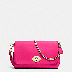 COACH MINI RUBY CROSSBODY IN LEATHER - LIGHT GOLD/PINK RUBY - F34604