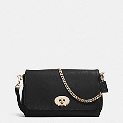 COACH MINI RUBY CROSSBODY IN LEATHER - LIGHT GOLD/BLACK - F34604