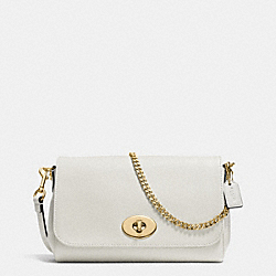MINI RUBY CROSSBODY IN LEATHER - f34604 - IMITATION GOLD/CHALK