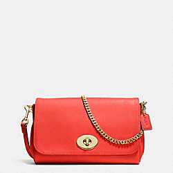 COACH MINI RUBY CROSSBODY IN LEATHER - LIGHT GOLD/CARDINAL - F34604
