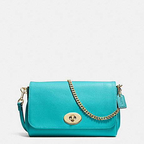 COACH MINI RUBY CROSSBODY IN LEATHER -  LIGHT GOLD/CADET BLUE - f34604