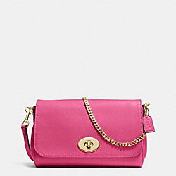 MINI RUBY CROSSBODY IN LEATHER - f34604 - IMITATION GOLD/DAHLIA