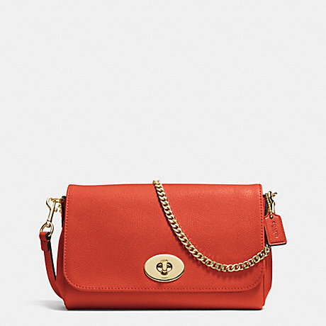 COACH f34604 MINI RUBY CROSSBODY IN LEATHER IMITATION GOLD/CARMINE