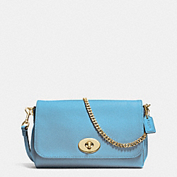 COACH MINI RUBY CROSSBODY IN LEATHER - IMITATION GOLD/BLUEJAY - F34604