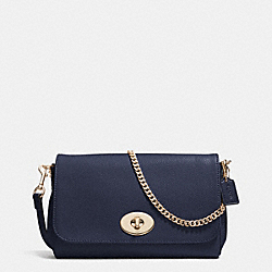 COACH MINI RUBY CROSSBODY IN LEATHER - LIGHT GOLD/MIDNIGHT - F34604