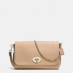 COACH MINI RUBY CROSSBODY IN LEATHER - LIGHT GOLD/NUDE - F34604